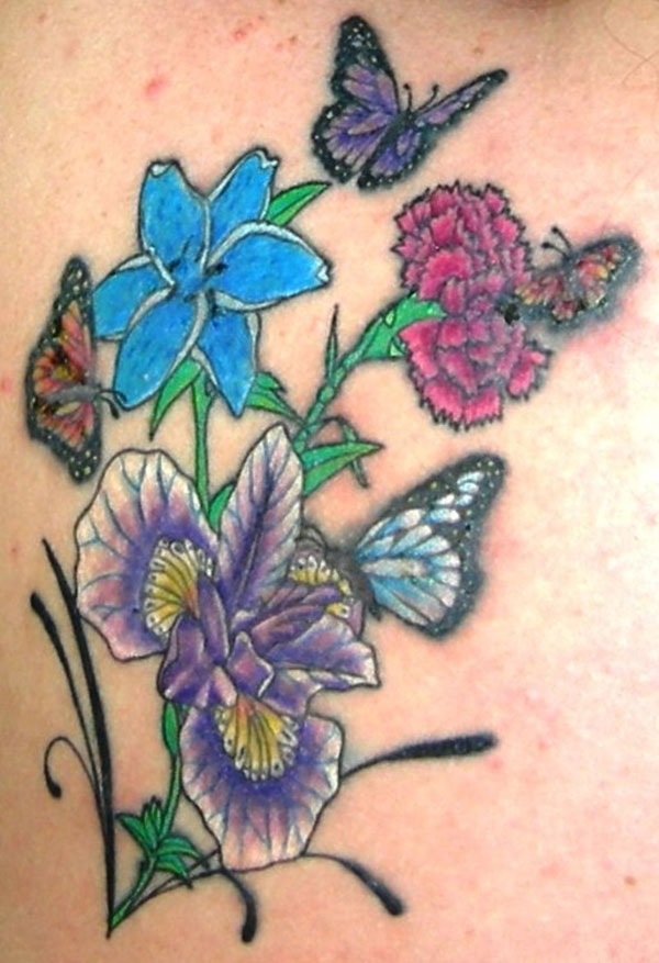 week healing 15 Nice Flower Tattoo Designs