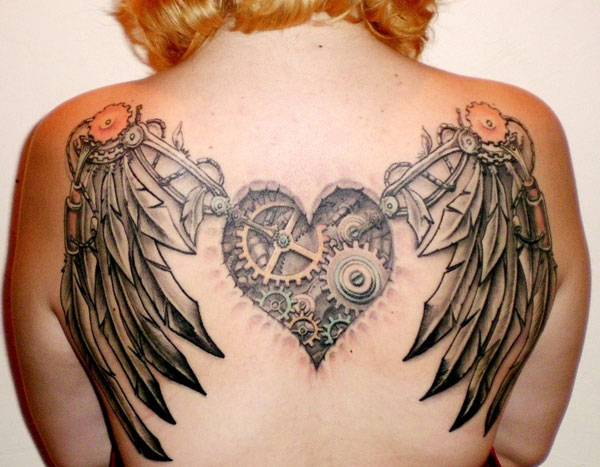 back tattoo 25 Top Heart Tattoos