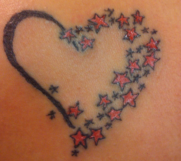 heart with stars 25 Top Heart Tattoos