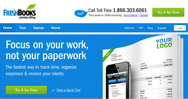 freshbooks 15 Top Web Invoicing Tools