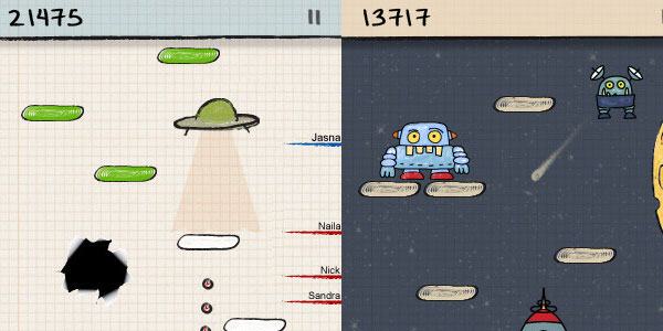 doodle jump 15 Best iPod Touch Apps