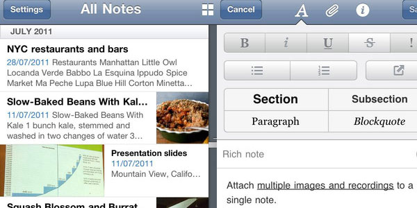 evernote 15 Best iPod Touch Apps