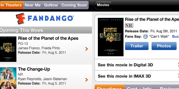 fandango movies 15 Best iPod Touch Apps