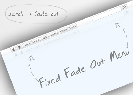Fixed Fade Out Menu