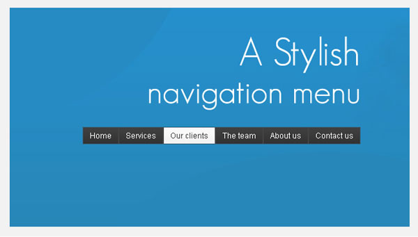 A Stylish Navigation Menu With jQuery