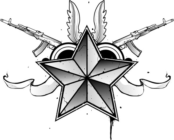 polular nautical star tattoo 15 Nautical Star Tattoos