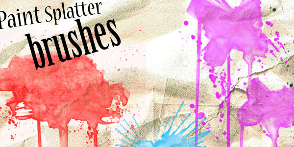Paint Splat Photoshop Brushes