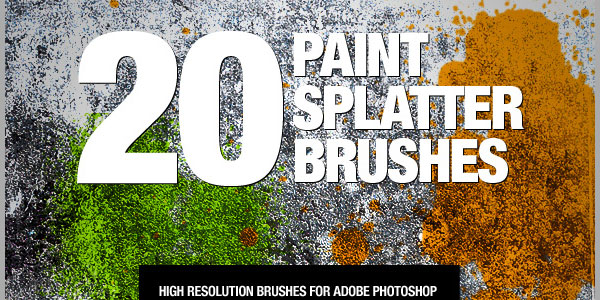 20 Paint Splatter Brushes