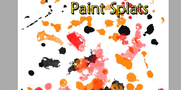 44 paint splatter brushes
