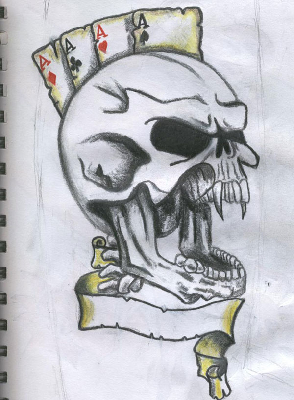 skull scary tattoo 15 Atrocious Skull Tattoos
