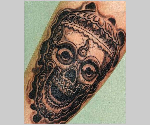 skull tattoo 15 Atrocious Skull Tattoos