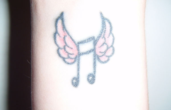 music note 15 Sweet Small Tattoos