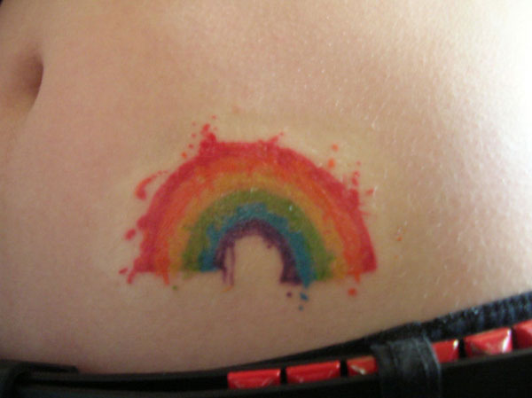 Rainbow Splatter'D Tattoo