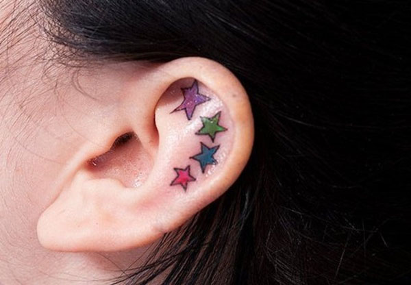Ear Stars Tattoo