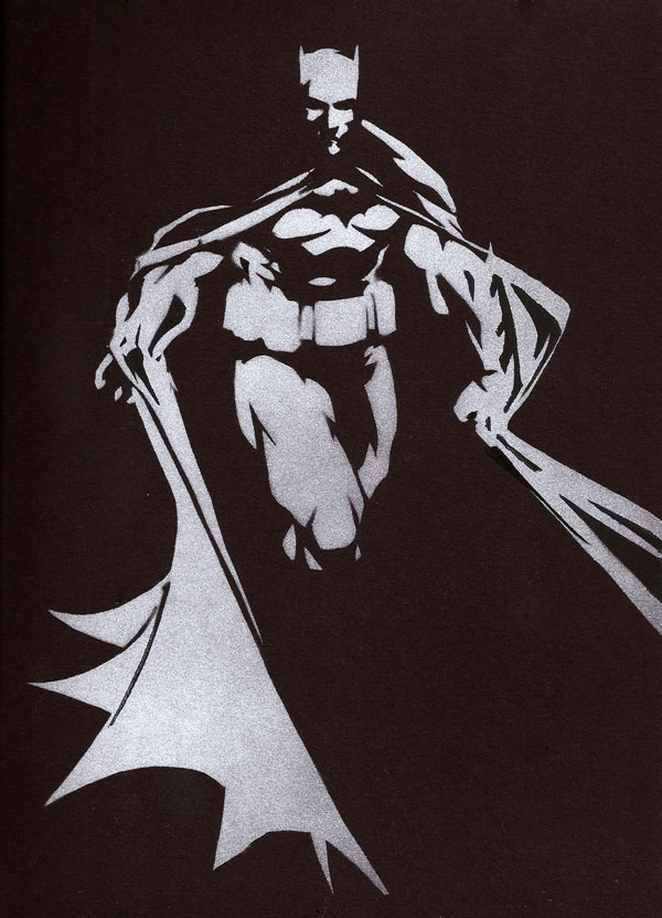 batman stencil 15 Cool Drawings Drawn Using Free Stencils