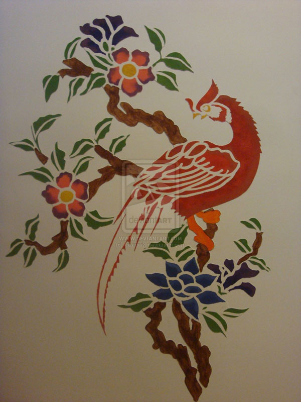chinese paper cut 15 Cool Drawings Drawn Using Free Stencils