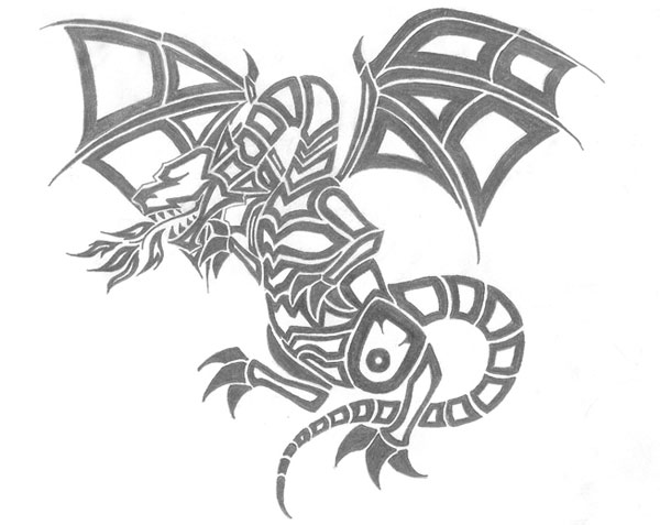 dragon stencil 15 Cool Drawings Drawn Using Free Stencils