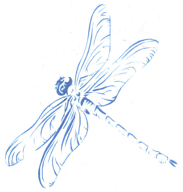 dragonfly stencil 15 Cool Drawings Drawn Using Free Stencils