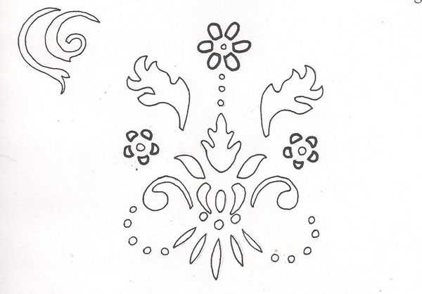 stencil swirls 15 Cool Drawings Drawn Using Free Stencils