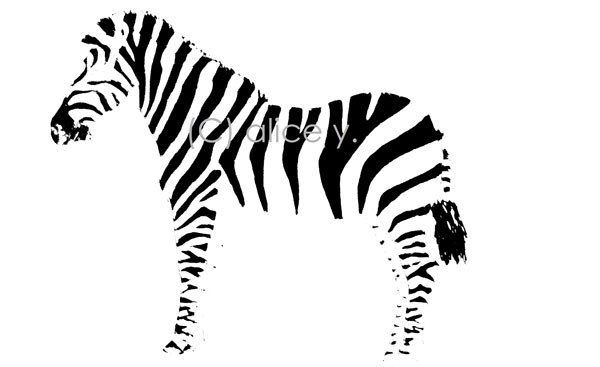 zebra stripes stencil 15 Cool Drawings Drawn Using Free Stencils