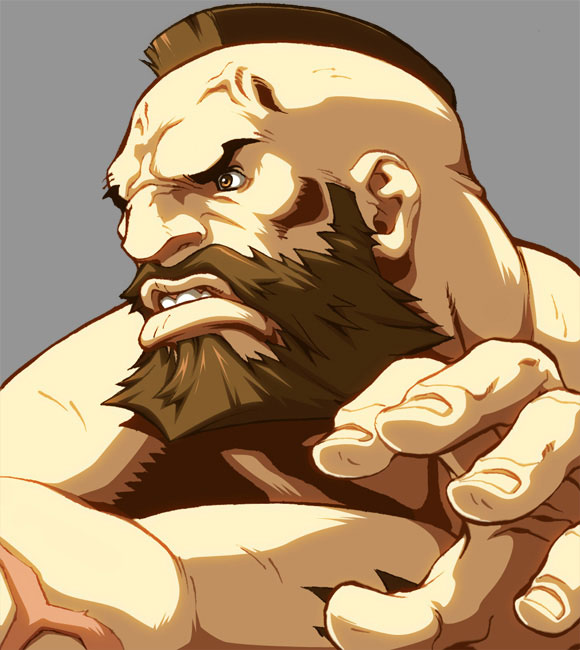 zangief 15 Street Fighter Characters Illustrations
