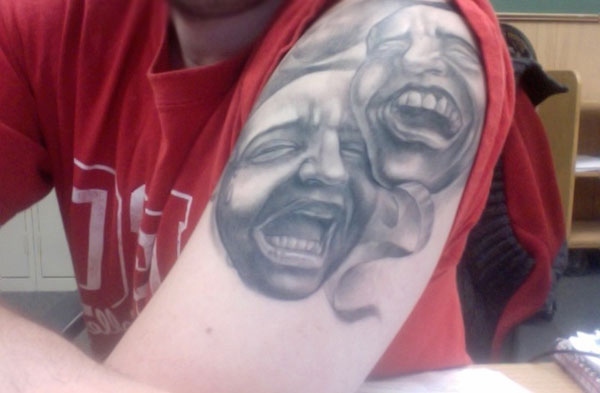 comedy tradegy 20 Awesome Tattoo Ideas For Girls