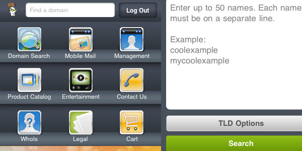 GoDaddy.com Mobile Domain Manager
