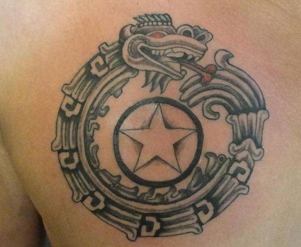 Aztec serpent w/ star