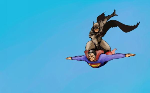 Batman on Superman wallpaper