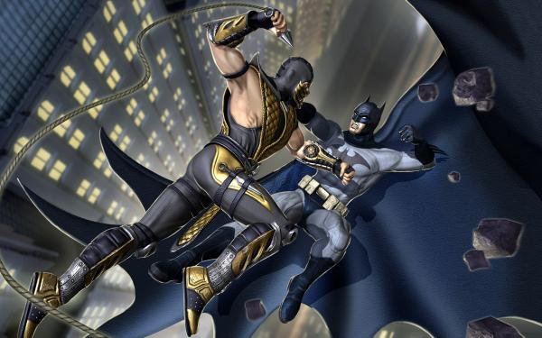 Batman vs Scorpion wallpaper