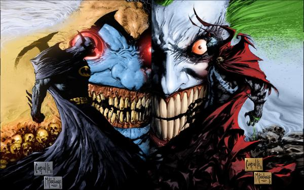 Spawn and Batman wallpaper