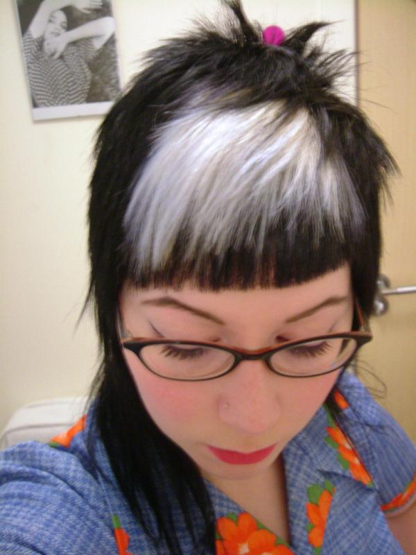 Black Hair With White Highlights Styles Images Black Hair Surion