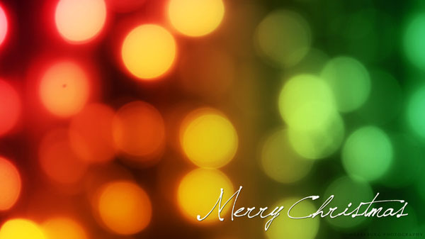Bokeh Christmas Wallpaper