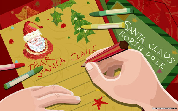 letter to santa 30 Heavenly Christmas Wallpaper Collection