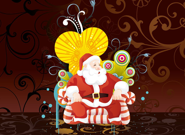 santa claus art 30 Heavenly Christmas Wallpaper Collection