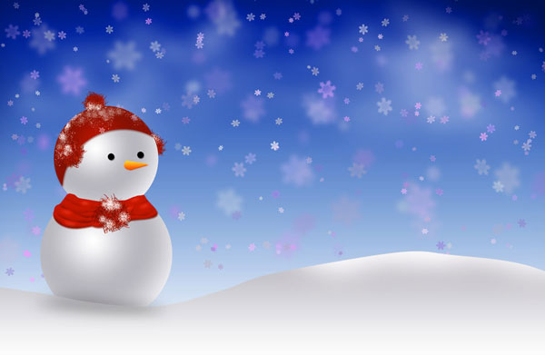 snowman christmas 30 Heavenly Christmas Wallpaper Collection