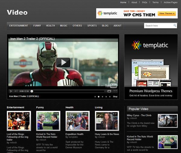 video theme 15 Awesome Flash WordPress Themes