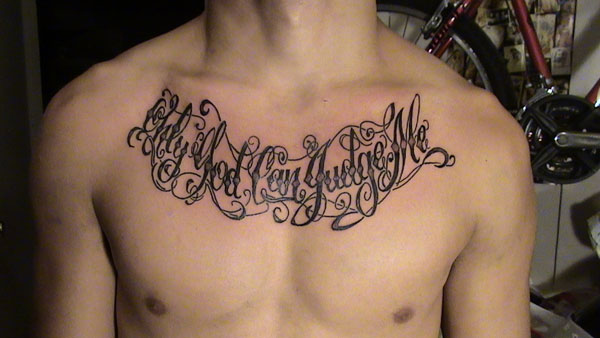 o g c j m 20 Superb Only God Can Judge Me Tattoo Designs