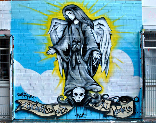 angel graffiti 30 Great Examples of Graffiti Art