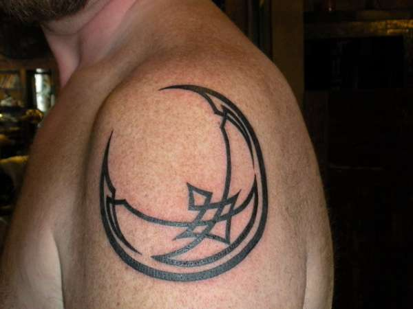 Irish Moon Tattoo