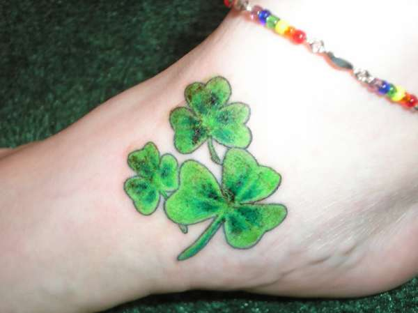 Shamrock Foot Irish Tattoo