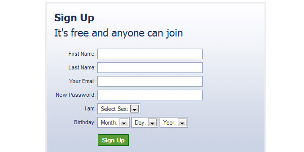 facebook like registration 25 Plugins for jQuery Facebook