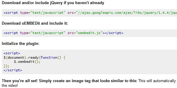 oembedit 25 Plugins for jQuery Facebook