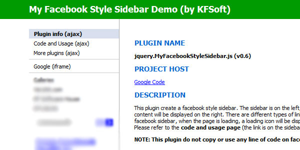 sidebar 25 Plugins for jQuery Facebook