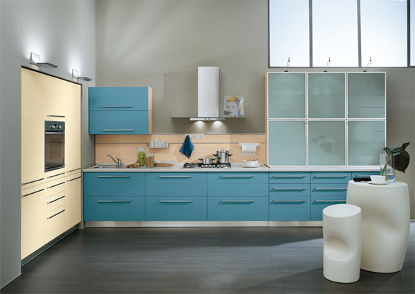 blue kitchen 30 Superb Kitchen Cabinets Design
