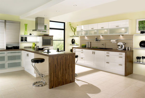 contemporary kitchen 30 Superb Kitchen Cabinets Design