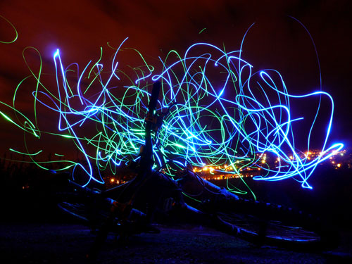 Light painting in public