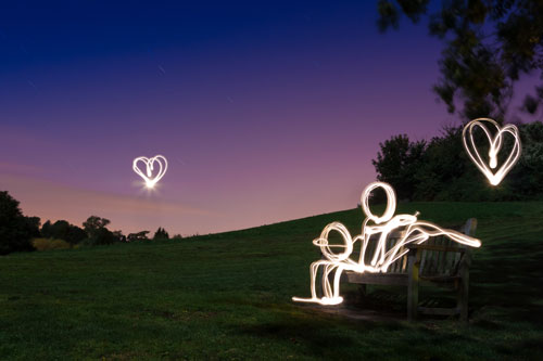 Love At First Light (Light Painting), Kent [Explored]