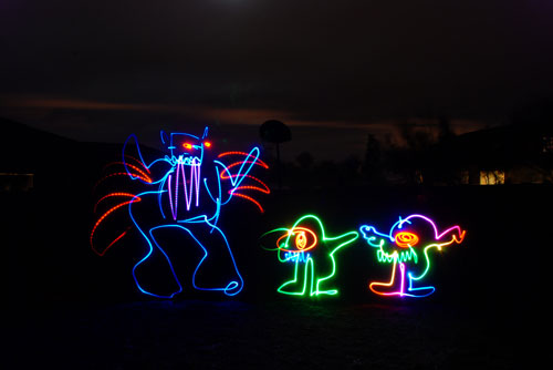 monster 50 Great Examples Of Painting With Light