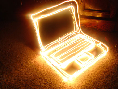 painting with light laptop 50 Great Examples Of Painting With Light